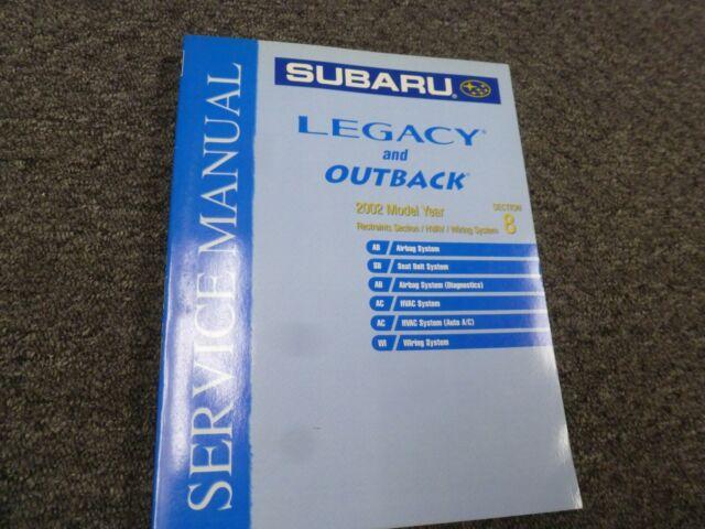 2002 Subaru Outback Electrical Wiring Diagrams Manual