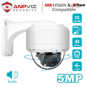 Hikvision-Compatible-IP-PTZ-Camera-2MP-5MP-POE-Dome-5X-Zoom-H-265-IP66-Onvif