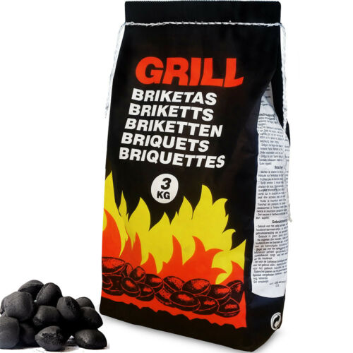 27kg Charcoal BBQ Briquettes Barbecue Grill Long Lasting 9x 3kg Outdoor Cooking