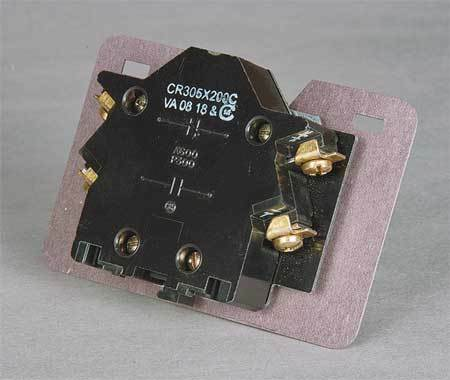 GE CR305X200C Aux Contact Block,1NO//1NC,Size 2