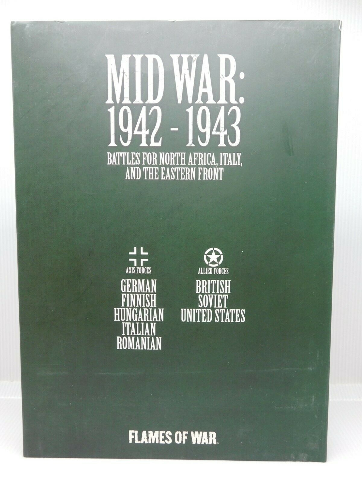 MID WAR 1942-1943 Africa  Eastern Front 2 Books Slipcase Flame of War 47522