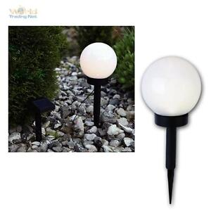solar led kugelleuchte 15cm garten lampe kugellampe au en leuchte kugel leds ebay. Black Bedroom Furniture Sets. Home Design Ideas