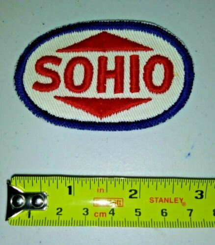 SOHIO VINTAGE Embroidered Automotive Gasoline Patch UNUSED