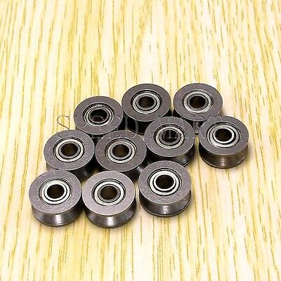 10pcs V624ZZ 624VV V Groove Guide Pulley Rail Ball Bearings Metal 4mm13mm6mm