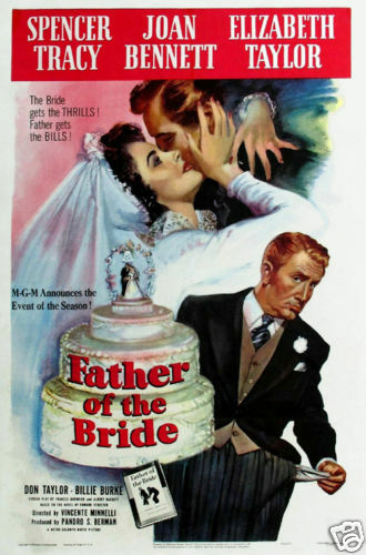 Father of the bride Spencer Tracy Vintage movie poster