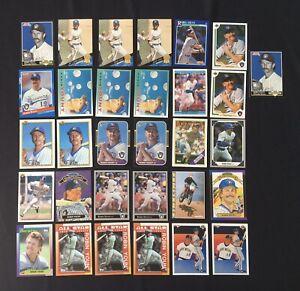 Robin-Yount-Baseball-Card-Lot-of-31-Milwaukee-Brewers-HOF-Topps-Donruss-Bowman