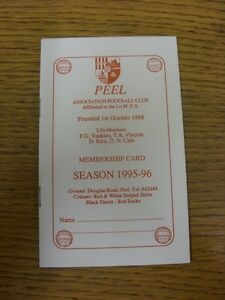 19951996 Peel Membership Season Card  12 Pages Includes Clubs Fixtures For Se - <span itemprop='availableAtOrFrom'>Birmingham, United Kingdom</span> - Returns accepted within 30 days after the item is delivered, if goods not as described. Buyer assumes responibilty for return proof of postage and costs. Most purchases from business s - <span itemprop='availableAtOrFrom'>Birmingham, United Kingdom</span>
