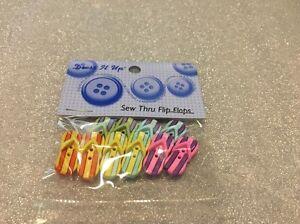 Dress It Up Buttons See Thru Flip Flops  #4875 Apx 10 Pcs