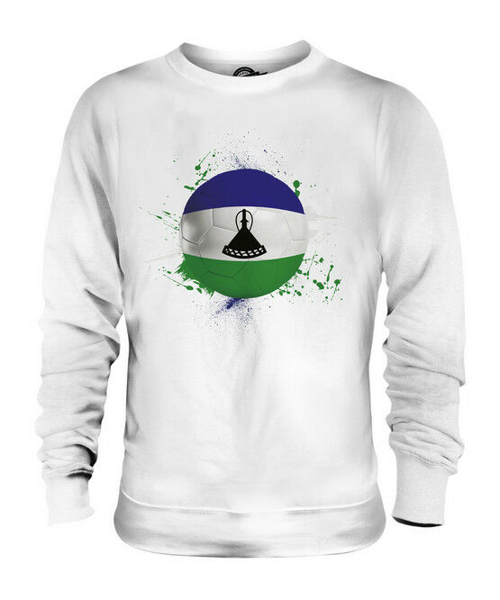 LESOTHO FOOTBALL UNISEX SWEATER  TOP GIFT WORLD CUP SPORT
