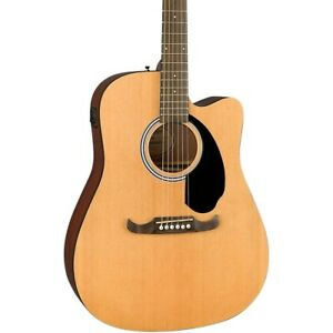 Fender FA-125CE Dreadnought Acoustic-Electric Guitar Natural