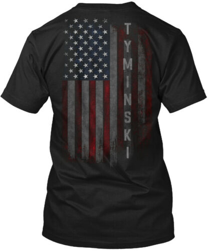 Tyminski Family American Flag Hanes Tagless Tee T-Shirt