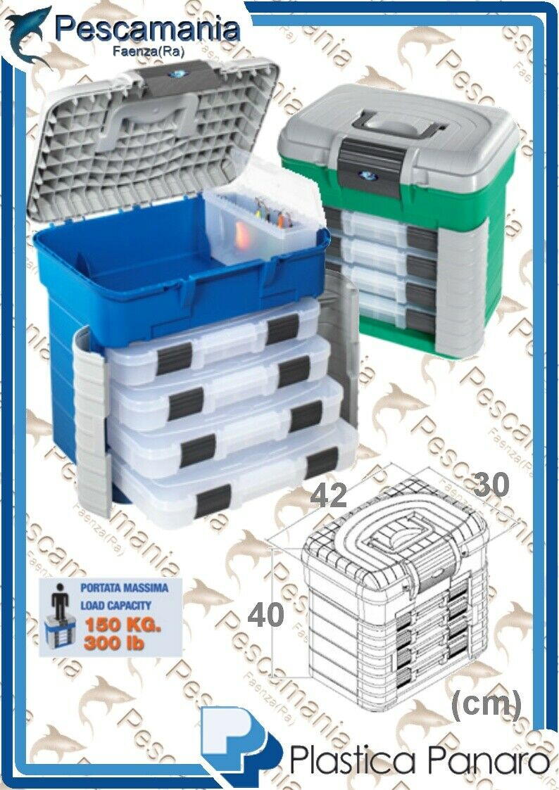 Aktenkoffer Kassette für Objekte, Plastica Panaro SuperBox