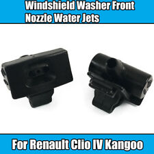 2x Front Windshield Washers For Renault Nozzle Black Plastic