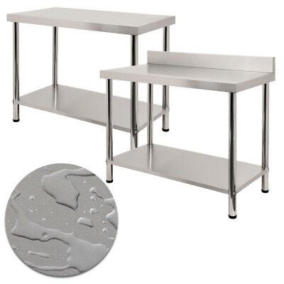 edelstahl arbeitstisch küchentisch edelstahltisch mit