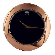 Widdop Metal Stylish Rose Gold Wall Clock Plain Dial Interior Home Decor 34cm