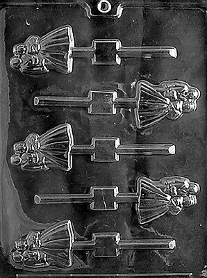 BRIDE & GROOM LOLLY POP mold Chocolate Candy plaster soap making wedding