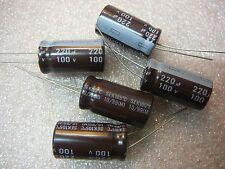 TEAPO SEK Radial Electrolytic Capacitor 220uF 100V 20%  **NEW**  5/PKG