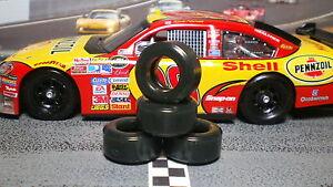 """""""SOFT"""" PAULGAGE SLOT CAR TIRES 2pr PGT-21103XD NEW SIZE fits CARRERA Nascar COT"""