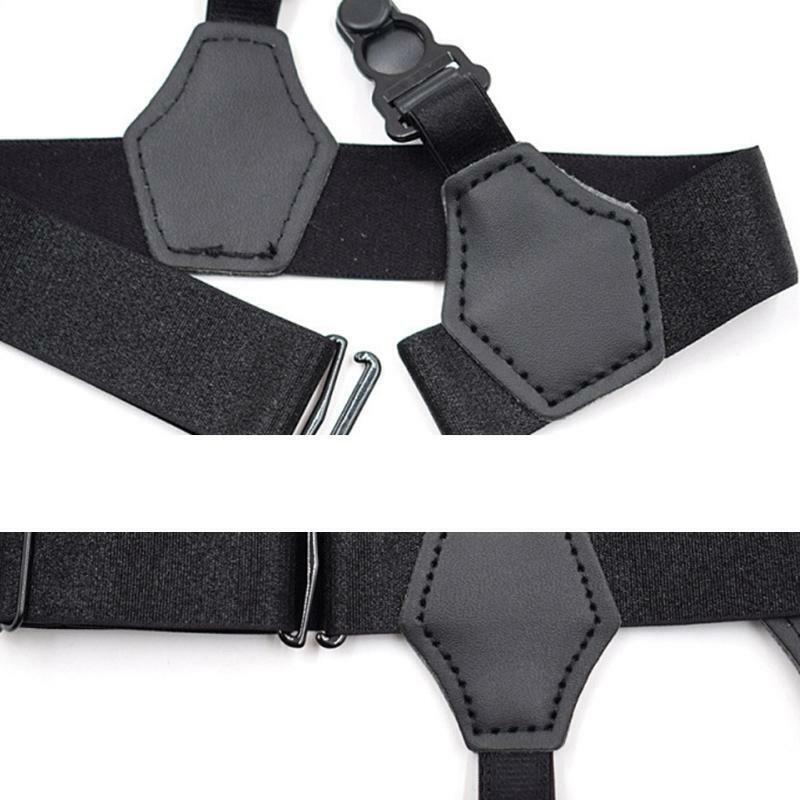 2Pcs/Set Unisex Socks Garters Belt Suspenders Adjustable Non-slip Double Clips