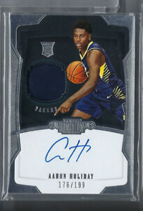 AARON-HOLIDAY-2018-19-PANINI-DOMINION-AUTO-AUTOGRAPH-JERSEY-RC-199-PACERS