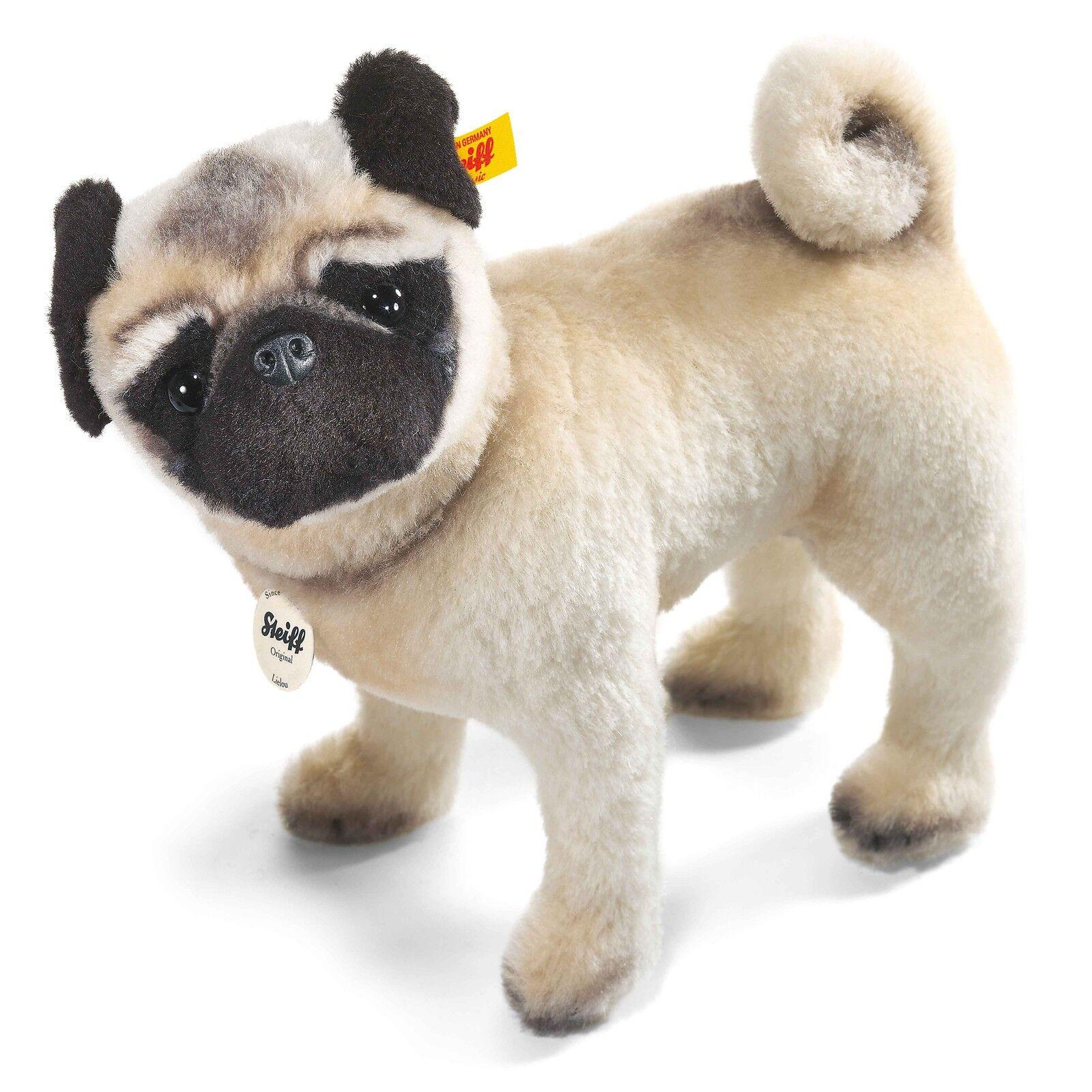 Steiff Lielou Mop Stehend Hund Verbunden Kopf Weiß Alpaka 30cm 045042 Neu