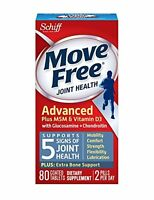 3 Pack Move Free Joint Health Advanced Plus Msm & Vitamin D3 80 Tablets Each