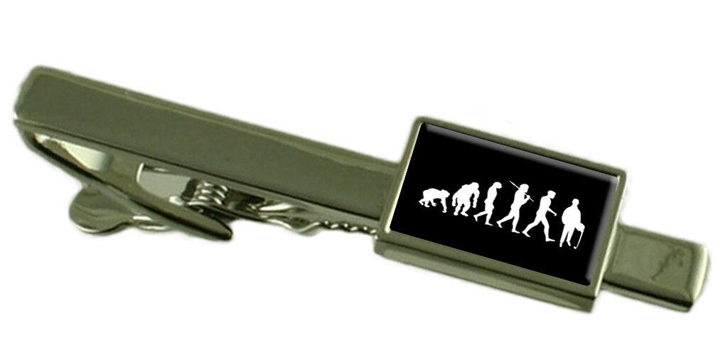Evoluzione Evoluzione Evoluzione Scimmia a Man Accountant Fermacravatta Select Regalo Astuccio c54007