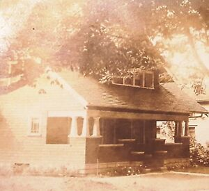 Ny Real Photo Postcard Bracing Up The Whole System And Strengthening It spencerport Arts & Crafts Bungalow Trustful Rppc 1916 Clark St