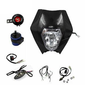 REC-REG-Motorbike-Light-Kit-Dirt-Pit-Bike-Honda-Yamaha-Suzuki-Kawasaki-Black