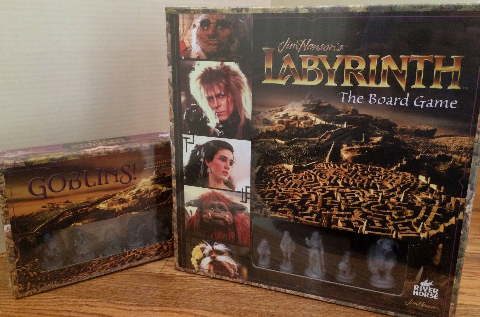Jim Henson's Labyrinth Board Game + Goblins Expansion  - Nuovo & Sealed
