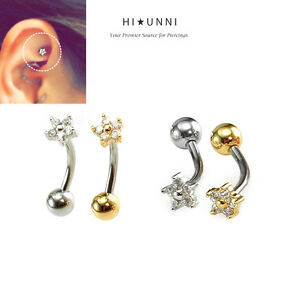 Image Is Loading 16g Dainty Flower Ear Cartilage Rook Earring Sung