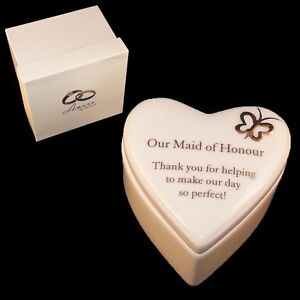 Porcelain Heart Trinket Box By Amore Wedding Thank You Gift Maid