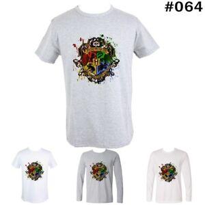 Harry-Potter-Hogwarts-Design-Couples-T-Shirt-Men-039-s-Women-039-s-Graphic-Tees-Tops