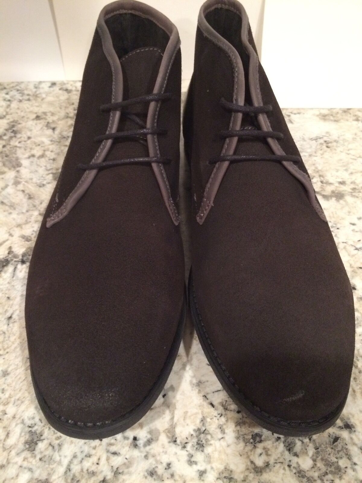 Made Cam Newton Cary Cary Newton Uomo Ankle Stivali Chukka Suede Lace Up Dark Grey 9 D  160 79f7ad
