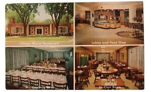 Village-Manor-Restaurant-Grosse-Pointe-Michigan-MI-Postcard