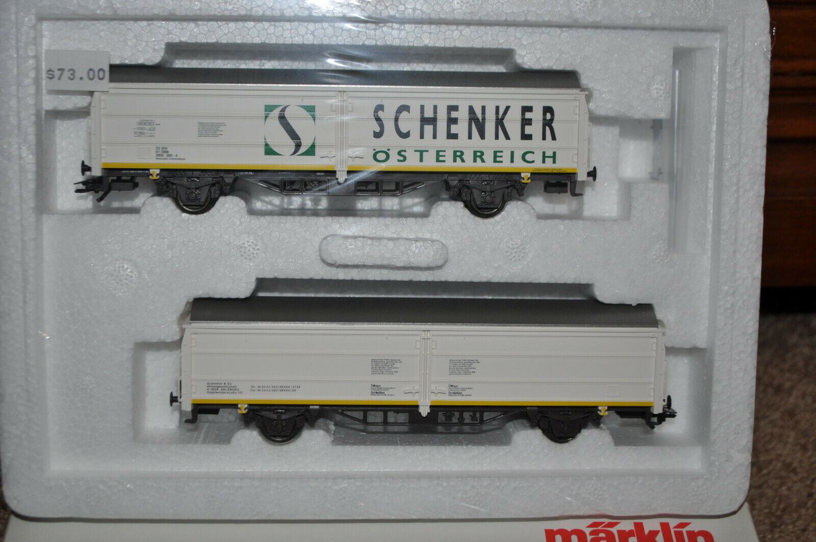 Marklin 47348 - OBB (Austrian)  Schenker  Sliding Wall Set (Limited)- NEW w Box