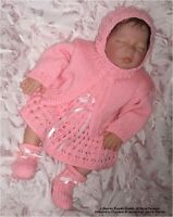 """Hand Knit Pattern: Baby/doll (16"""") """"Molly"""" Outfit MPN HK243  - Frandor Formats"""