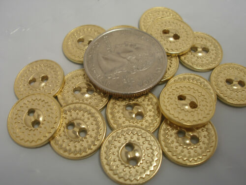 5//8 11//16 MADE IN ITALY #G22 NUOVO un sacco di Oro Bottoni in Metallo tg 1//2