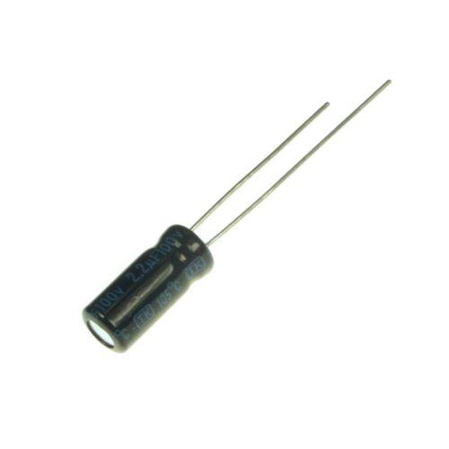 50 Elko Kondensator radial Jamicon TK 2,2uF 100V 105°C 073415