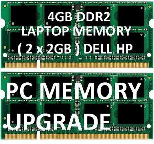 4gb-2gb-X2-ddr2-LAPTOP-MEMORY-RAM-sodimm-modules-HP-Dell-d620-d630-d820-d830