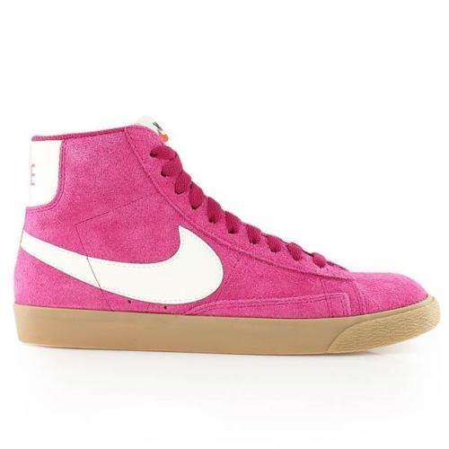 Nike Womens Size 7.5 Shoes Blazer Mid Suede Vintage Shoes 7.5 Sport Fuchsia/Gum 518171 614 e6639e