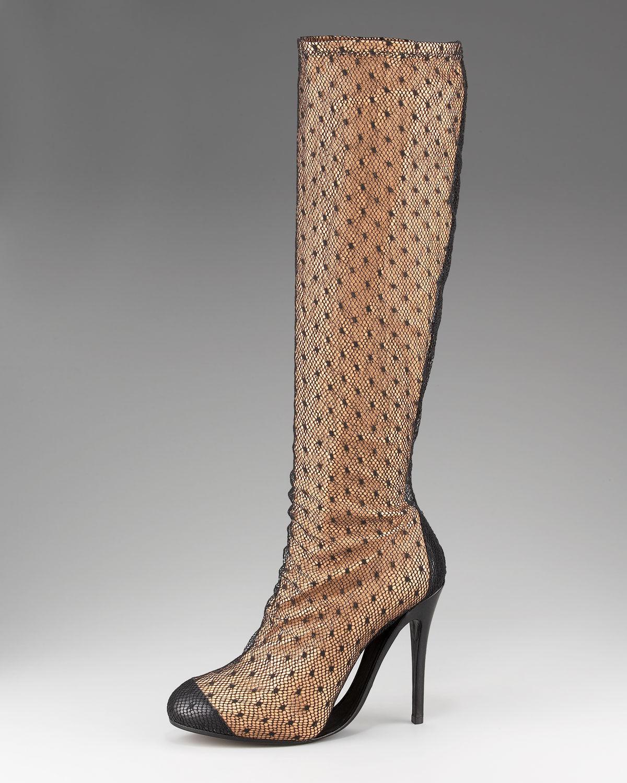Maison Martin Margiela FISHNET rodilla botas = US tamaño 8.5-9 Nuevo en Caja rt  1,690.00+Tx