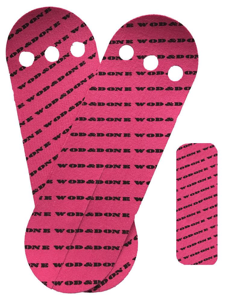 Wod & & Wod Done Grips & Hook Grip Bundle - rosa 20 Grips / 24 Hook - Self Adhesive 105dfb
