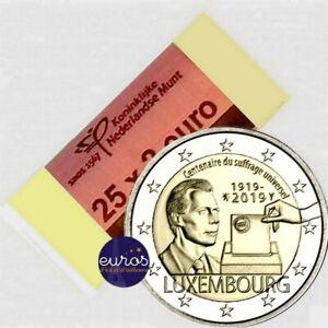 Rouleau-25-x-2-euros-commemoratives-LUXEMBOURG-2019-Droit-de-Vote-UNC