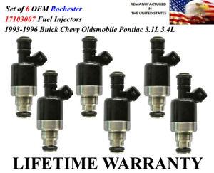 Set//6 Rebuilt Fuel Injectors \YRS 94-96\ Pontiac Grand Am 3.1L V6\ OEM Rochester