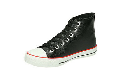 Jumex Herren Schuhe Schnürschuhe High Sneakers Boots FC8606 schwarz