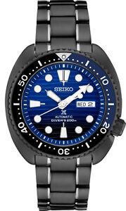 New-Seiko-Prospex-Turtle-Divers-200M-Black-IP-Bracelet-Men-039-s-Watch-SRPD11