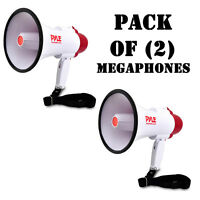 Pair Of Pyle Pmp30 Megaphone Pa Bullhorn W/ Built-in Siren, Volume Control on sale
