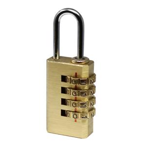 Toolman Solid Brass Lock 3 Copper Digit Padlock for Indoor and Outdoor
