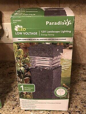 Paradise Gl33749st 12 V Black Low Voltage Led Landscape Light Fixture Ebay